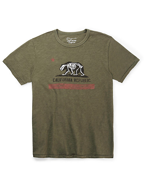 BEAR SKELETON TEE, BURNT OLIVE