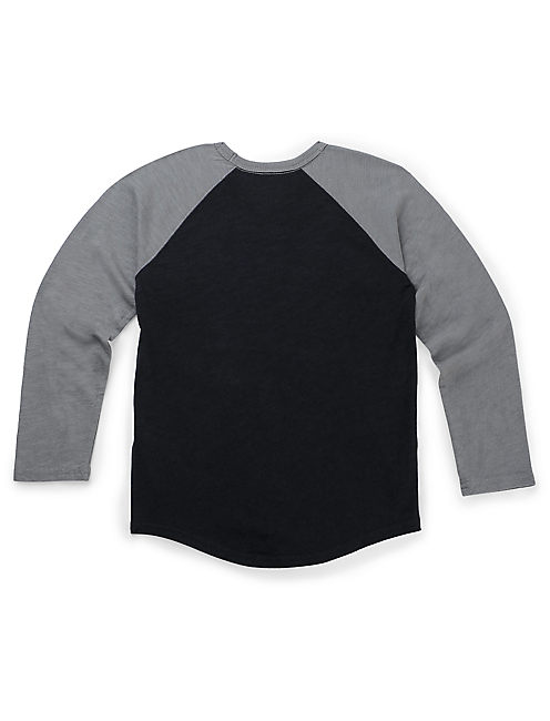 FREEDOM BASEBALL TEE, M.NIGHT+HEATHER GREY