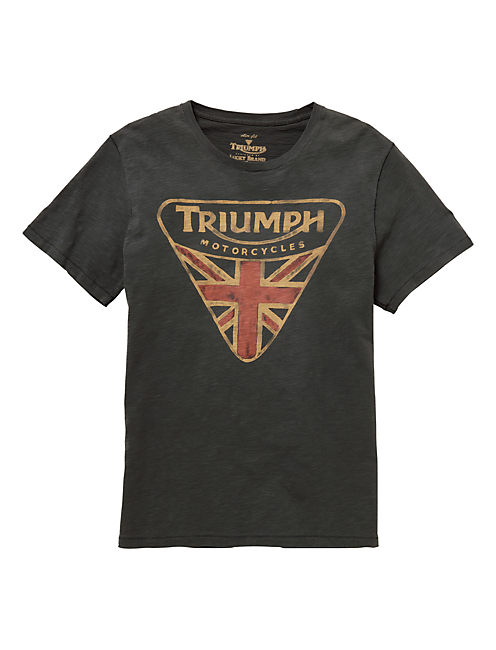 TRIUMPH BADGE TEE, BLACK MOUNTAIN