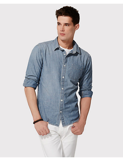 FAIRFAX CHAMBRAY 1 POCKET, GEM LAKE