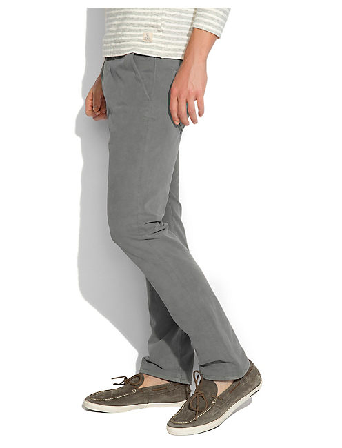 121 SUN FADED CHINO, GREY ASH