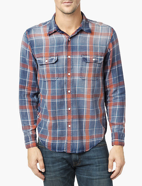 LUCKY AXE INDIGO 2 POCKET SHIRT