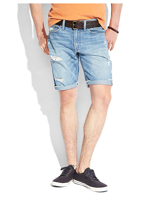 DESTRUCTED DENIM SHORT, DEMERSAL