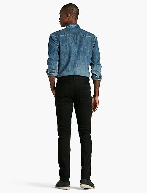 121 HERITAGE SLIM JEAN, BLACK COAL