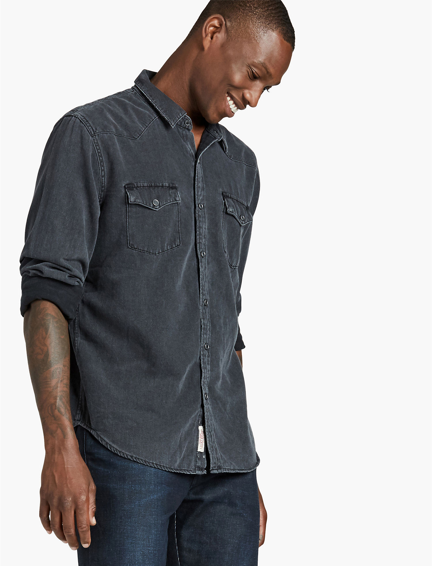 Mens Black Button Down Shirts | Lucky Brand