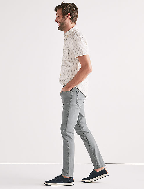110 SKINNY STRETCH CANVAS JEAN, SALTED SEAGLASS