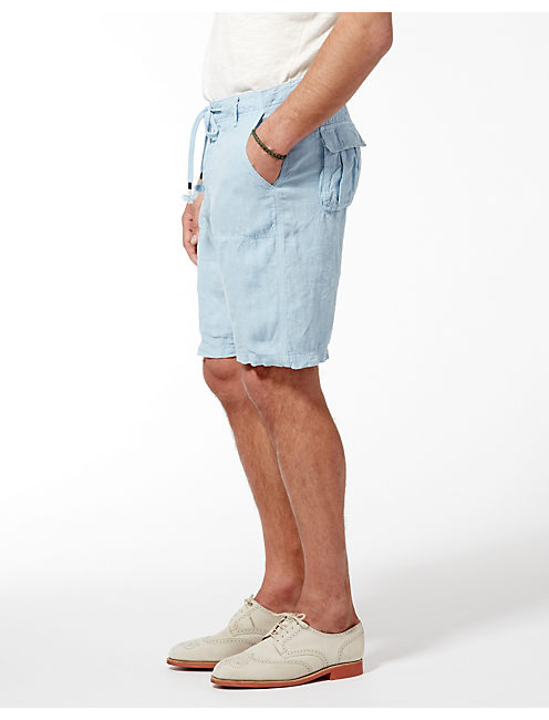 SUNSET LINEN SHORTS, SPRING BLUE #4982