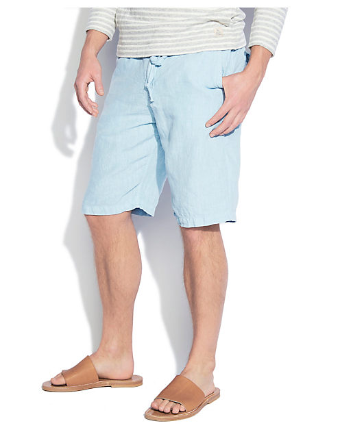 SUNSET LINEN SHORT, SPRING BLUE #4982