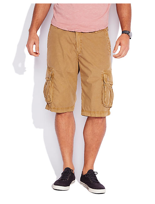 PAPERWEIGHT CARGO SHORT, PALE ALE