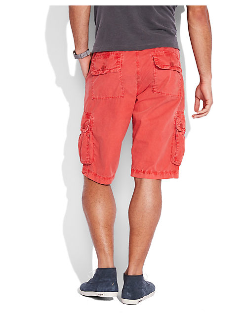 PAPERWEIGHT CARGO SHORT, #6655 SUMMER RED