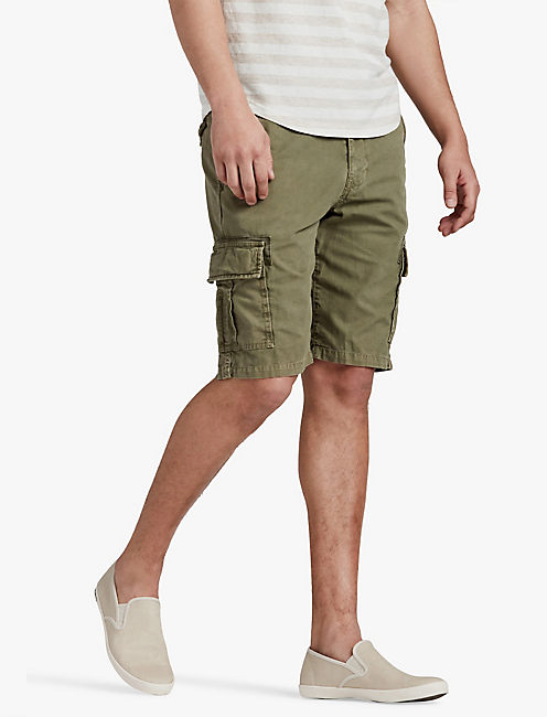 CANVAS CARGO SHORT, BURNT OLIVE