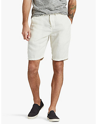 LUCKY LINEN PLAIN FRONT SHORT