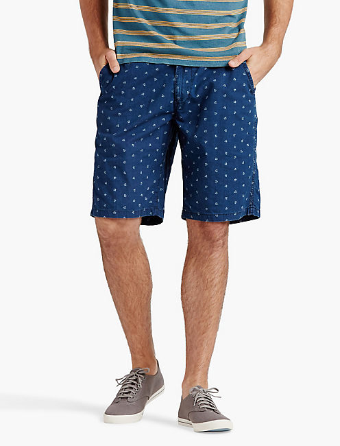 PRINTED INDIGO SHORT,