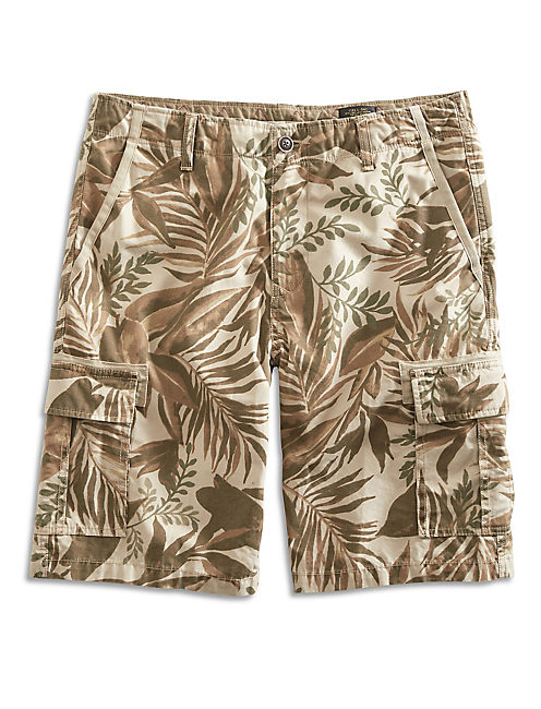 TWILL CARGO SHORT, TAN MULTI