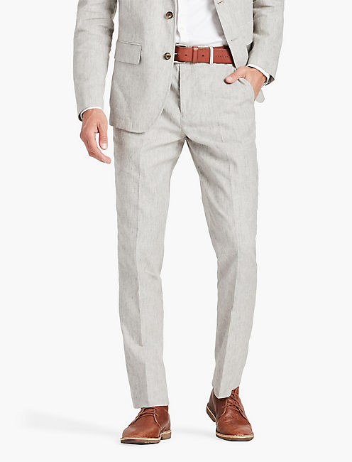 LINEN SUIT PANT, GREY HEATHER MULTI