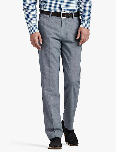 BLUE TEXTURED SUIT PANT,