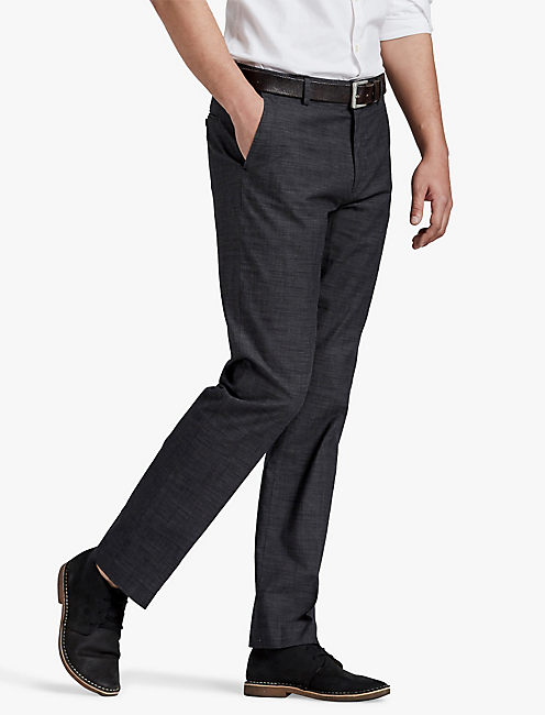 BLACK TEXTURED SUIT PANT,