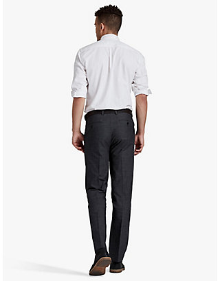 LUCKY BLACK TEXTURED SUIT PANT