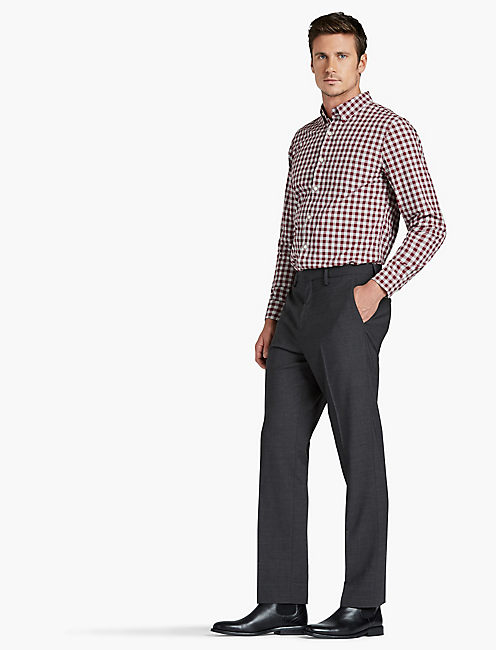 JACK ESSENTIAL SUIT PANT, HEATHER CHARCOAL