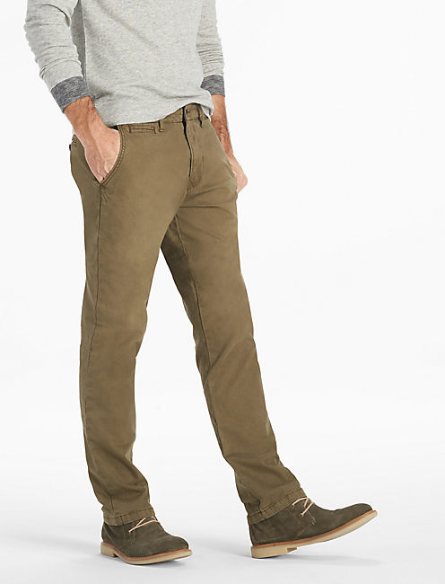 Stretch Cotton Links Chino, DARK OLIVE