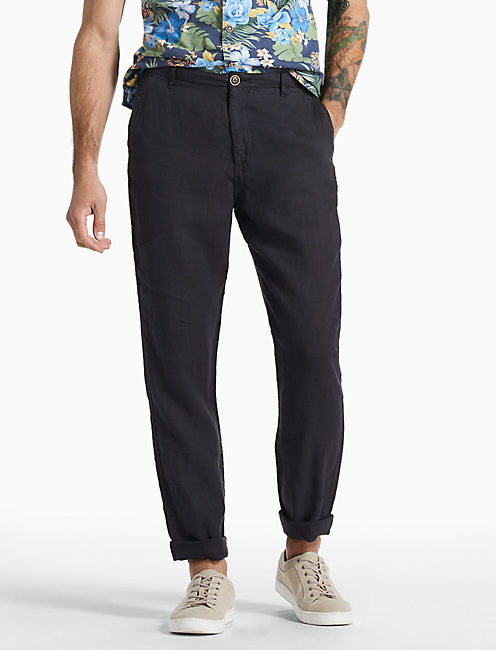 Hightide Linen Pant, BLACK