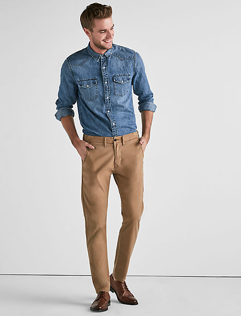 410 STRETCH CHINO PANT, PALE ALE