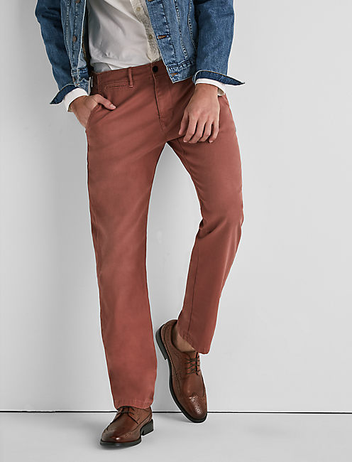 410 STRETCH CHINO PANT, RED CLAY