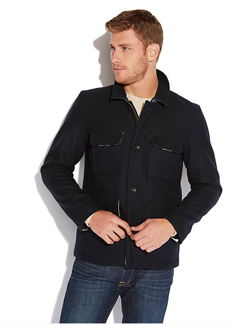 PACIFICA WOOL JACKET, AMERICAN NAVY