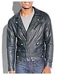 TITAN LEATHER MOTO JACKET, #437 NAVY