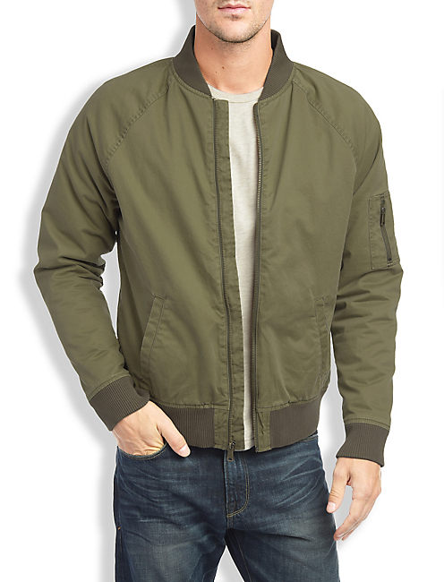 DIVISIONAL BOMBER JACKET, MOSS