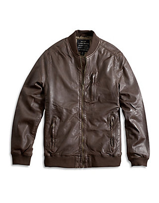 LUCKY LEATHER BOMBER