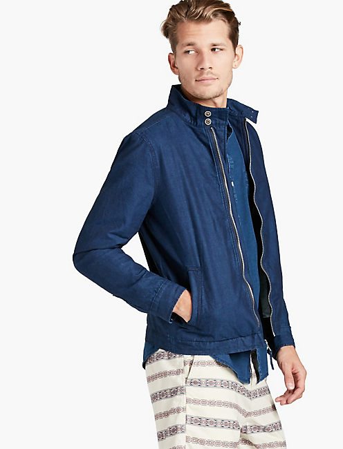 INDIGO HARRINGTON JACKET,