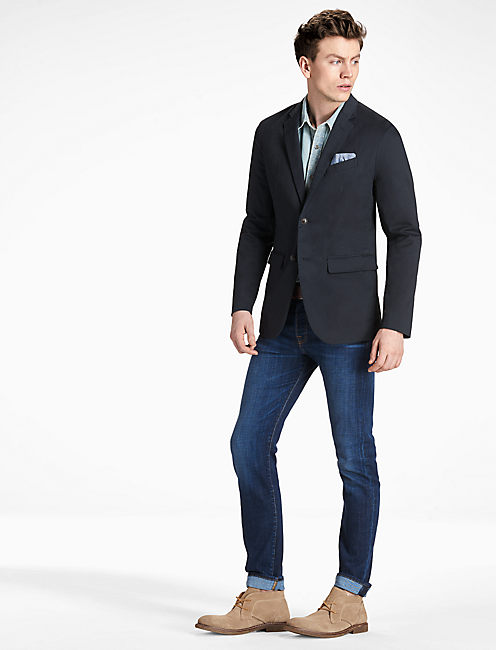 Washed Cotton Blazer,