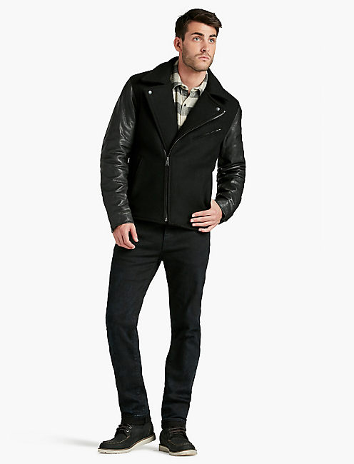 WOOL / LEATHER BIKER,