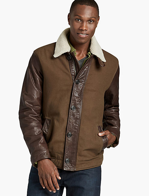 FLIGHT JACKET, BROWN