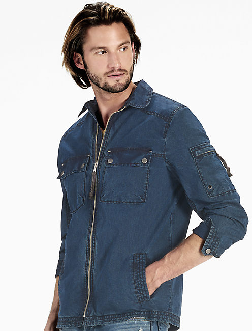 Washed Indigo Shirt Jacket,