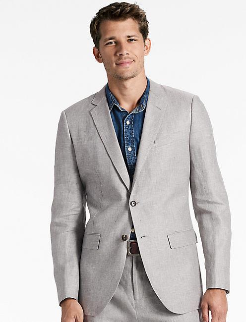 Jack Linen Suit Jacket, GREY