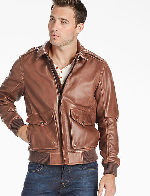 Northridge Leather Bomber Jacket,