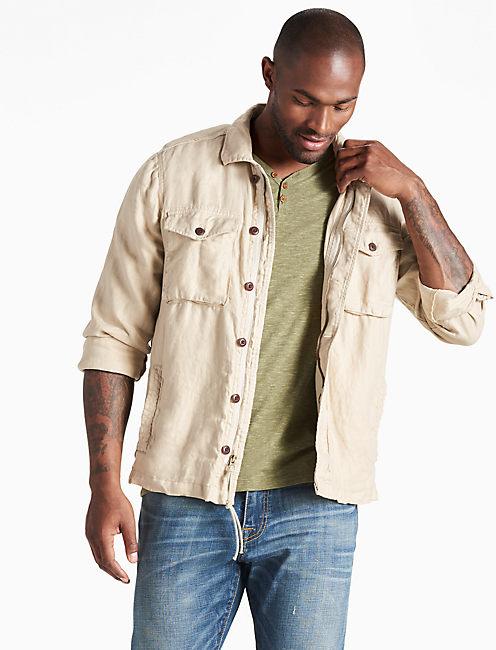 Linen Platoon Jacket,