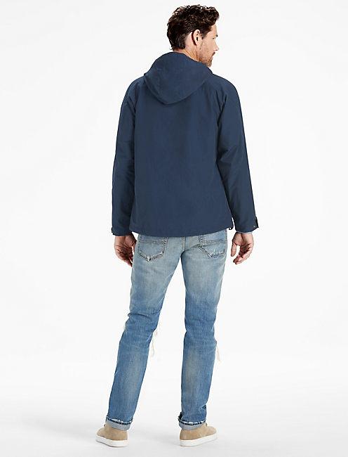 Cotton Blend Waxed Jacket, #437 NAVY