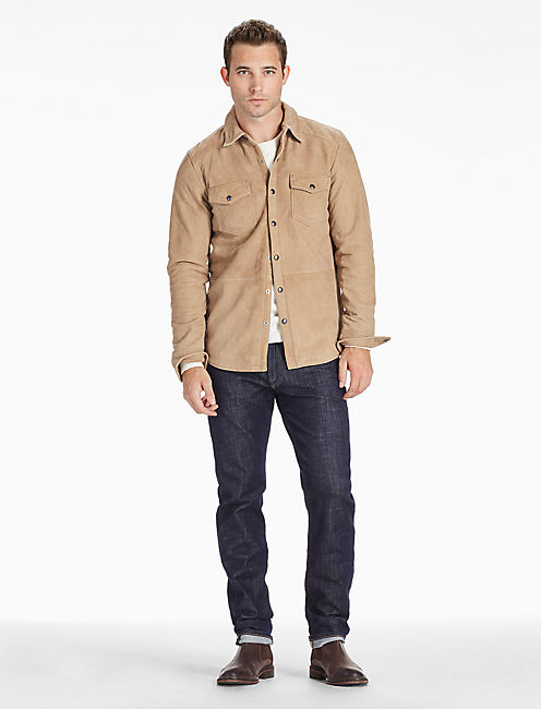 Lucky Sierra Suede Shirt Jacket