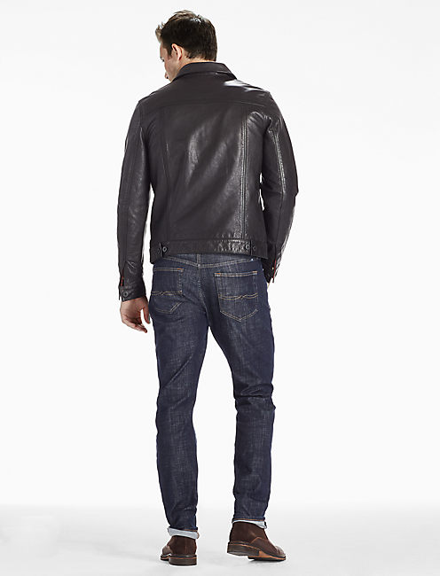 Mulholland Leather Trucker Jacket,