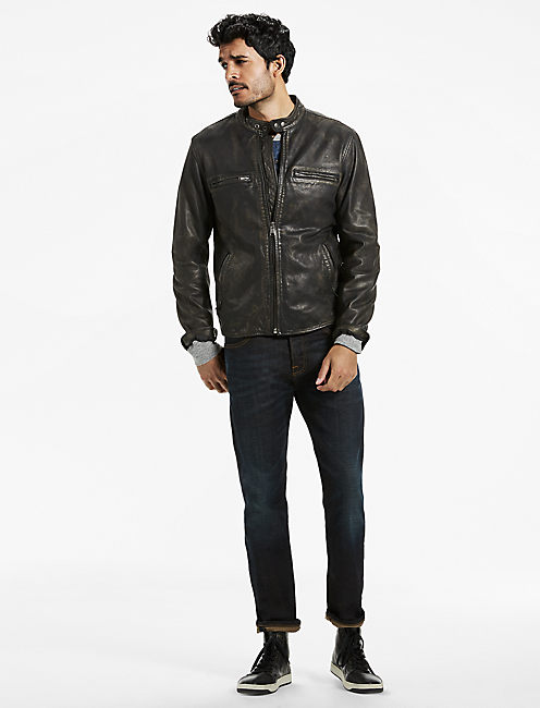 Lucky Triumph Tiger Bonneville Leather Jacket