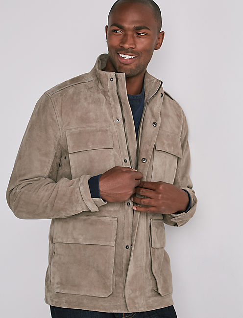 SUEDE M65 ARMY JACKET, GREY