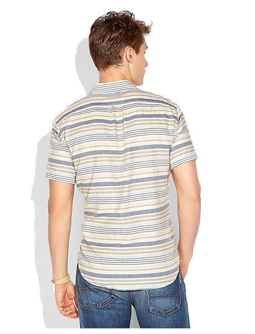 MONTEZUMA STRIPE, BROWN/BLUE