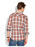 OWLSHEAD PLAID WESTERN, NAT/RED/ORG