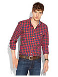 ROSECRANS GINGHAM SHIRT, RED/BLUE