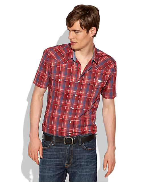 SAWATCH PLAID WESTERN, LIGHT BLUE/RED