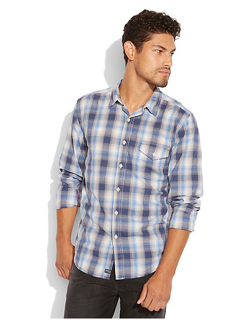 ALPINE PLAID 1 POCKET, BLUE/GREY