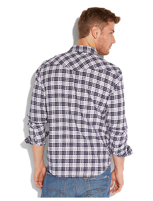 MAMMOTH PLAID WESTERN, BLUE/WHITE